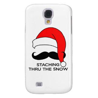 Mustache Christmas - Staching thru the snow Galaxy S4 Case