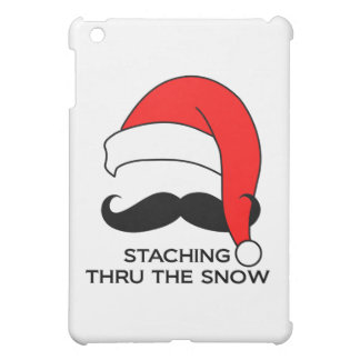 Mustache Christmas - Staching thru the snow iPad Mini Case