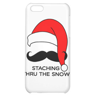 Mustache Christmas - Staching thru the snow Case For iPhone 5C