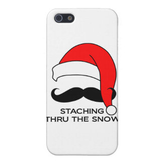 Mustache Christmas - Staching thru the snow iPhone 5 Cover