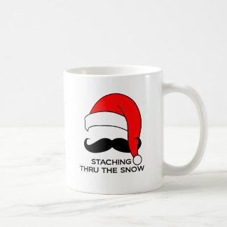 Mustache Christmas - Staching thru the snow Coffee Mugs