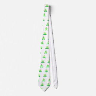 Mustache Christmas Tree Apparel Tie
