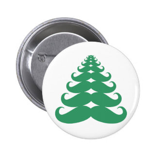 Mustache Christmas Tree Buttons