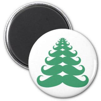 Mustache Christmas Tree Magnet
