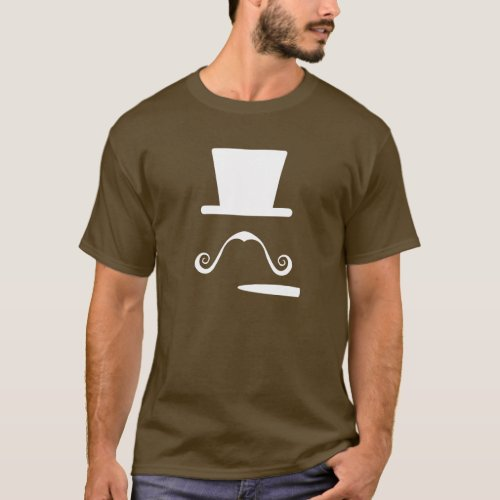 Mustache  Cigar Pictogram T_Shirt