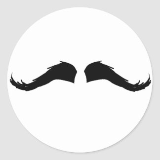 Mustache Classic Round Sticker