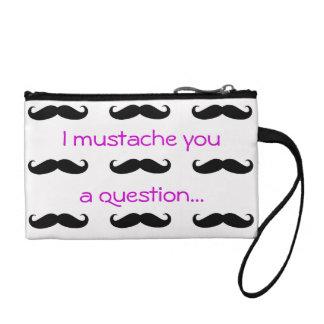 Mustache Coin Clutch