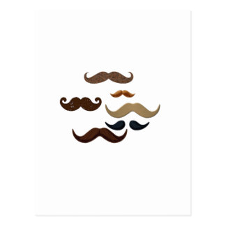 Mustache Collage Hair Add Name Add Color Text Postcard