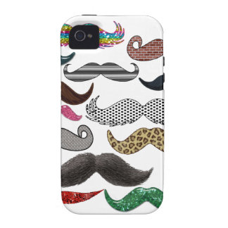 Mustache Collage Mustaches Popular Add Color Text Case-Mate iPhone 4 Covers