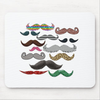 Mustache Collage Mustaches Popular Add Color Text Mouse Pad