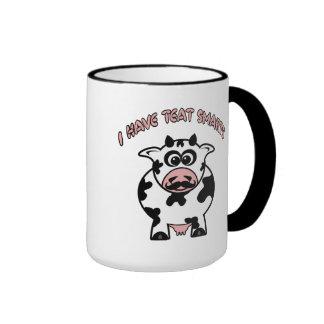 Mustache Cow Teat Smarts Ringer Mug