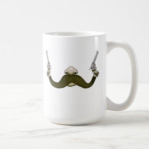 Mustache Cowboy Classic White Coffee Mug