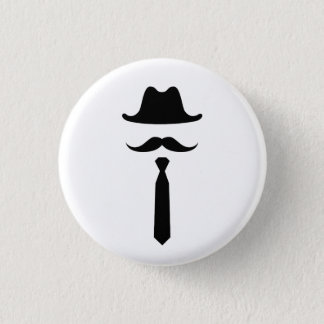 Mustache & Cowboy Hat Pictogram Button