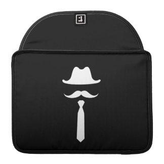 Mustache & Cowboy Hat Pictogram MacBook Pro Sleeve