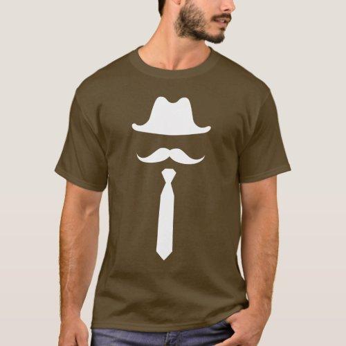 Mustache  Cowboy Hat Pictogram T_Shirt