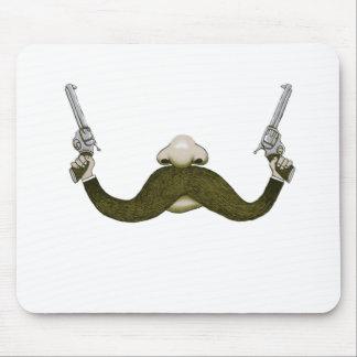 Mustache Cowboy Mouse Pad