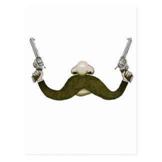 Mustache Cowboy Postcard