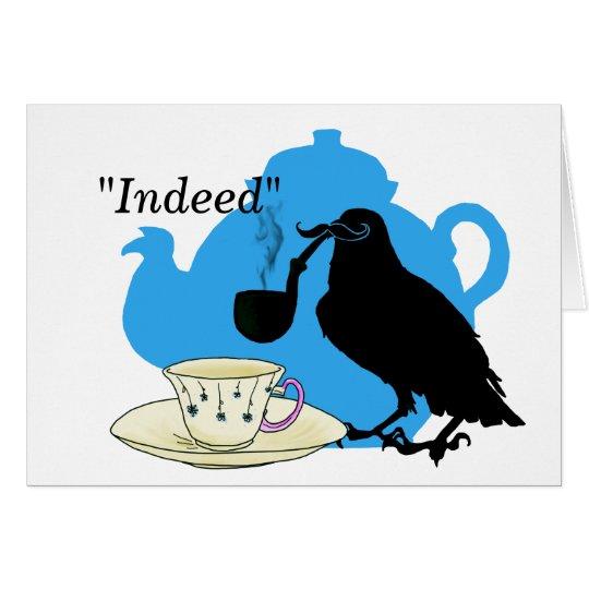 Mustache crow card