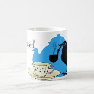 Mustache crow coffee mug