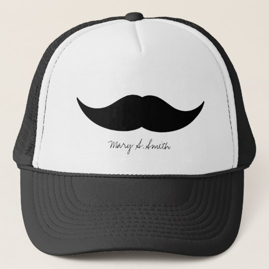 Mustache Custom Name Trucker Hat