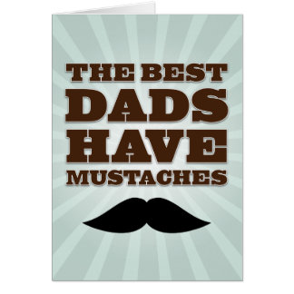 Mustache Dad Father's Day Card