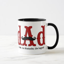 Combo Mug with Dad: The Man, The Mustache, The Legend design