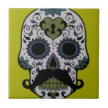 Mustache Day of the Dead Tile