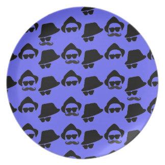 Mustache Decorative Plate
