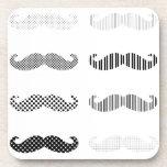 Mustache Design/dot&stripe Coasters