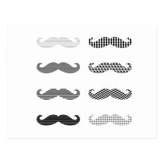 Mustache Design/monocromes Postcard