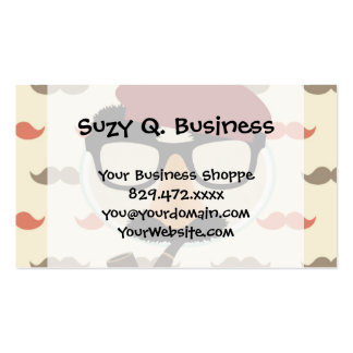 Mustache Disguise Glasses Pipe Beret Face Business Card