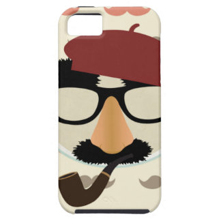 Mustache Disguise Glasses Pipe Beret Face iPhone 5 Covers
