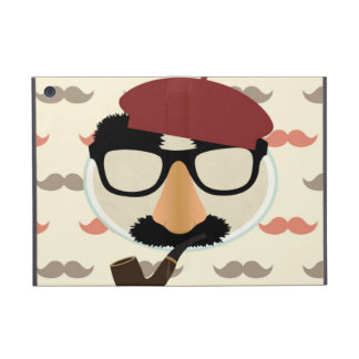 Mustache Disguise Glasses Pipe Beret Face Covers For iPad Mini