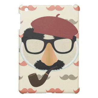 Mustache Disguise Glasses Pipe Beret Face iPad Mini Case