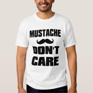 Mustache Dont Care T Shirt