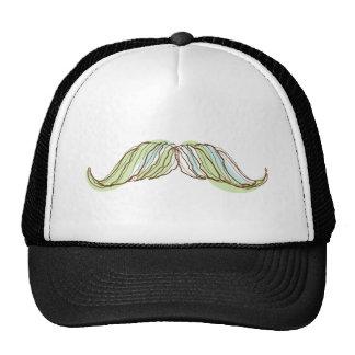 Mustache doodle, drawing, illustration trucker hat