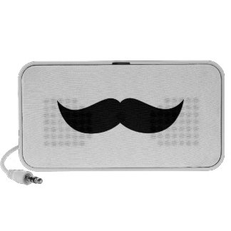 Mustache Doodle Laptop Speaker