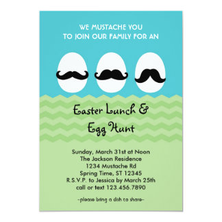 Mustache Easter Eggs Invitation