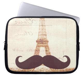 Mustache Eiffel Tower Computer Sleeves