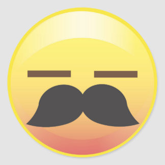 Mustache Emoji Sigh Party Sticker