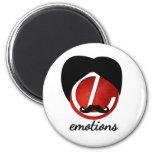 Mustache emotion fridge magnet
