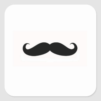 Mustache Envelope Seal Square Sticker