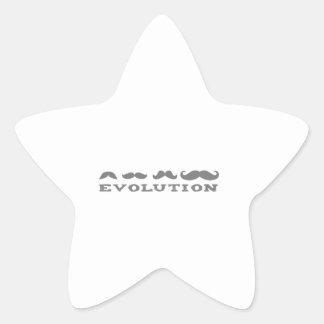 Mustache Evolution Star Sticker