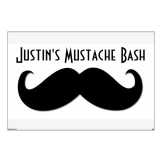 Mustache -  Extra Large Wall Sticker