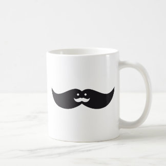 Mustache face with mustache design coffee mug