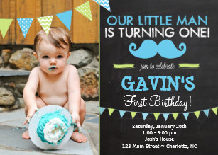 Mustache 1st birthday invitations zazzle mustache first birthday invitation filmwisefo