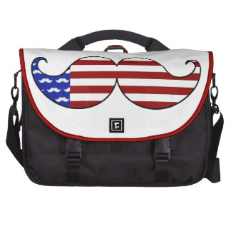 Mustache Flag for Fourth of July Independence Day Bags For Laptop