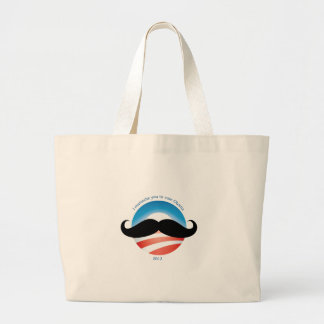 Mustache for Obama - 2012 Large Tote Bag