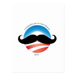 Mustache for Obama - 2012 Postcard