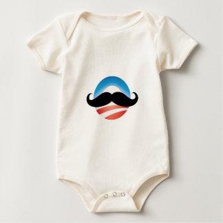 Mustache for Obama Baby Bodysuit